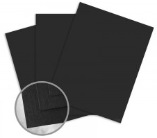 Via Linen Black Card Stock