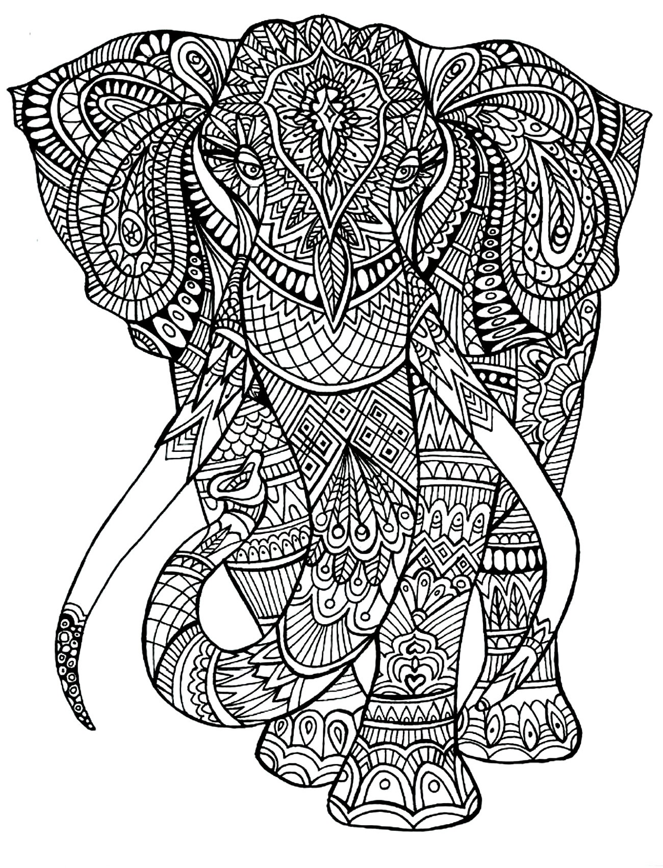 Colouring in for adults why - Coloring Adult Elephant Patterns