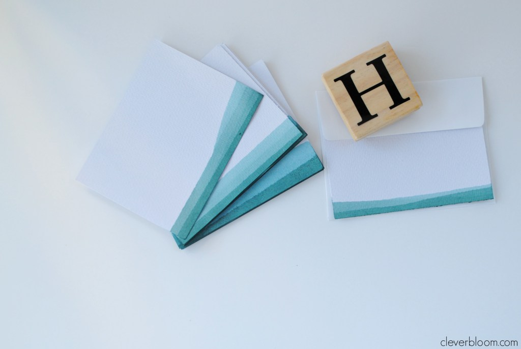 dip dyed ombre stationery