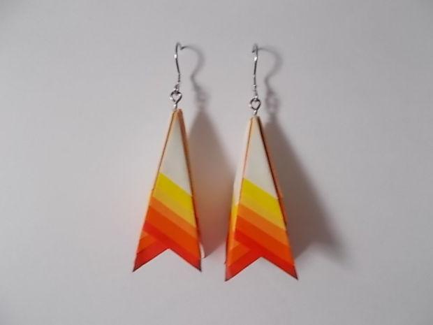 ombre paper earrings