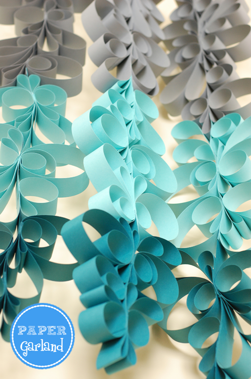 ombre paper scroll garland