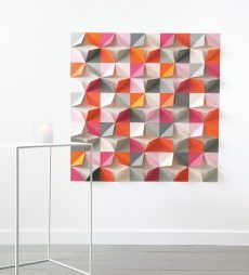 geometric paper backdrop diy wedding decorations