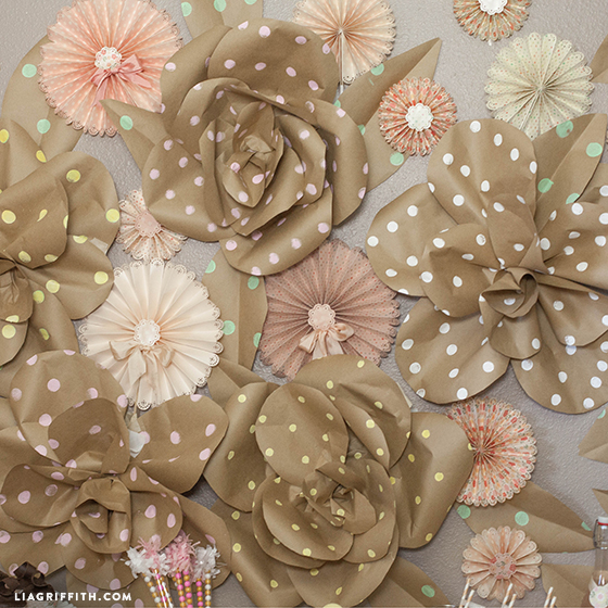 jumbo kraft paper flowers lia griffith