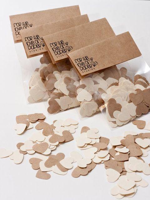 kraft paper confetti