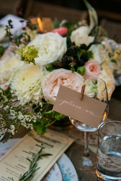 kraft paper placecards