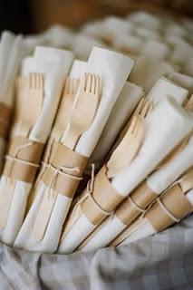 kraft paper silverware bundles