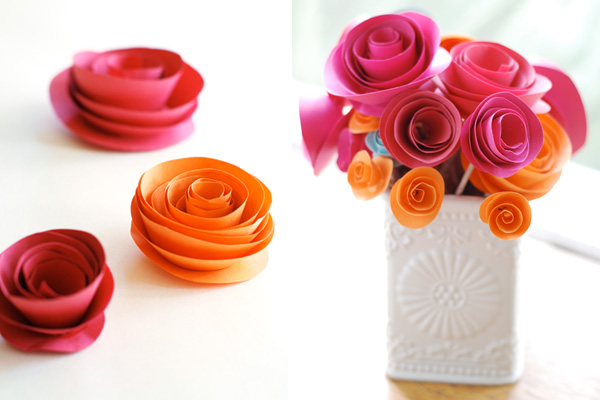 mini paper roses diy wedding decorations