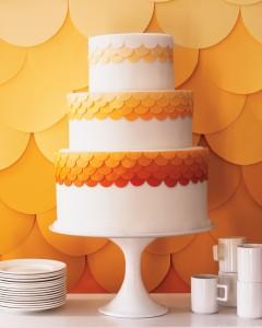 ombre paper backdrop diy wedding decorations