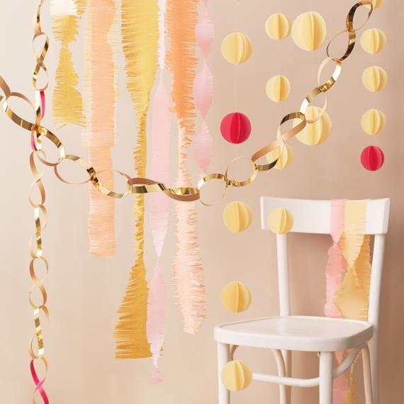 paper chain garlands diy wedding decorations