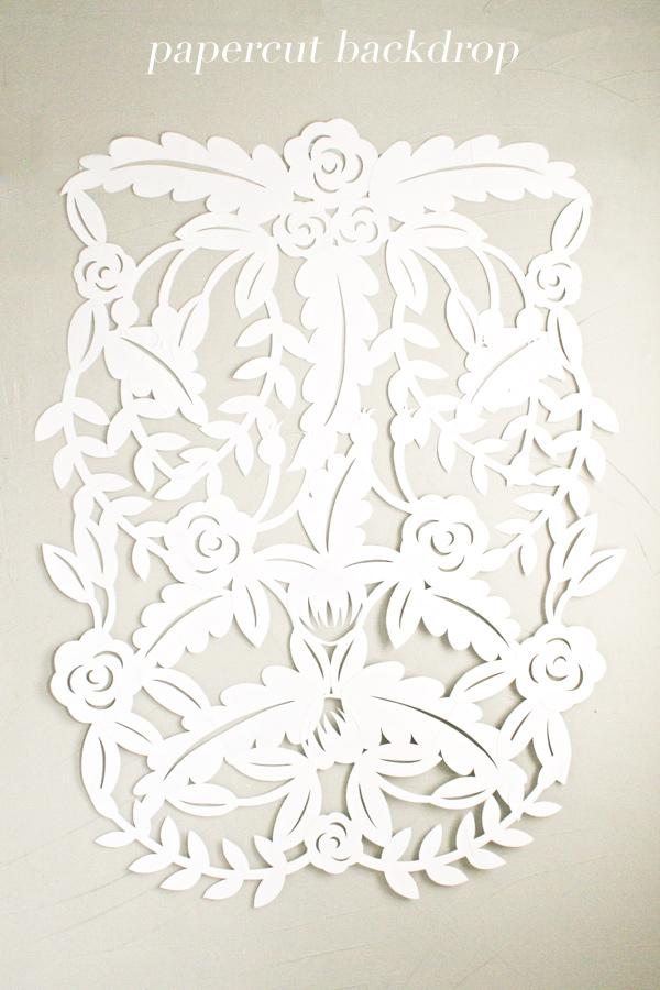 papercut leaf backdrop diy wedding decorations