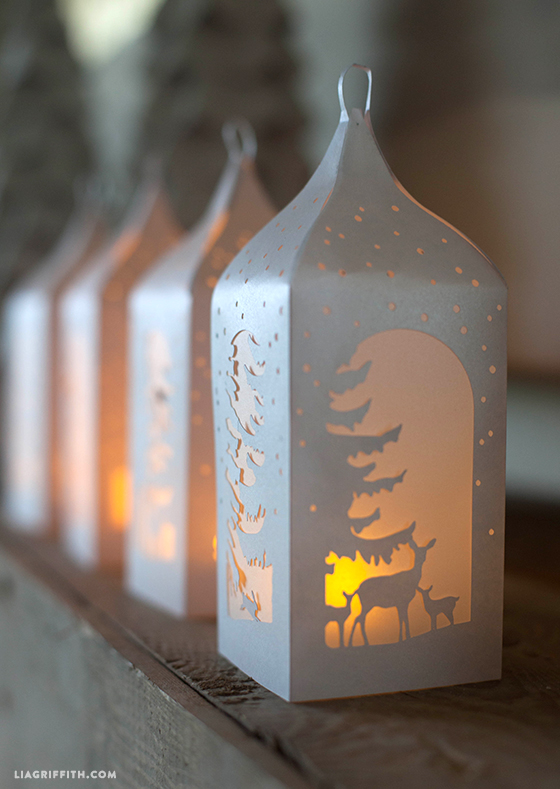 winter paper lanterns diy wedding decorations