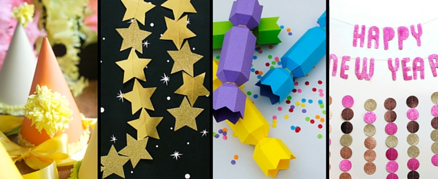 14 paper new years eve nye decorations