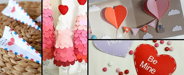 16 more valentines day paper crafts