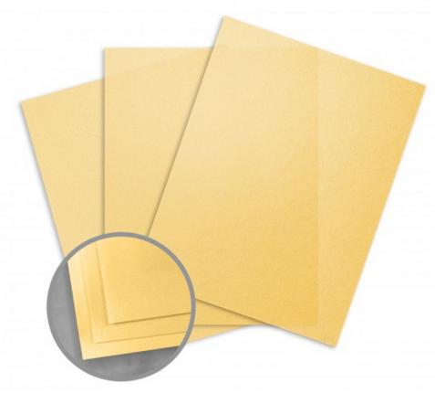 Curious Translucents Gold Paper