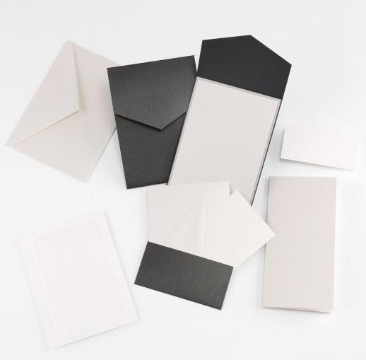 Fine Impressions Black Shimmer Pocket Invitation Ensemble