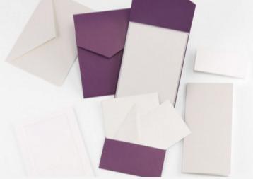 Fine Impressions Purple Shimmer Pocket Invitation Ensemble