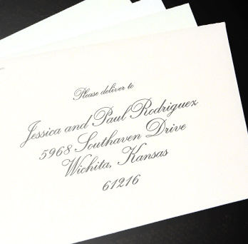 pre-addressed envelope
