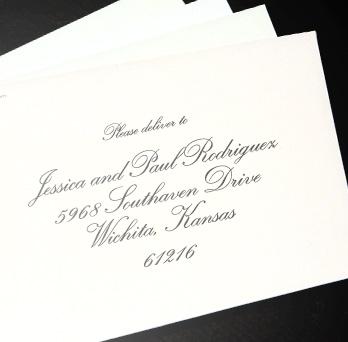pre-addressed envelope