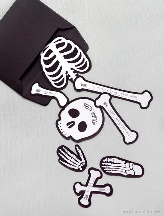 bag o bones halloween invitation printable mr printables