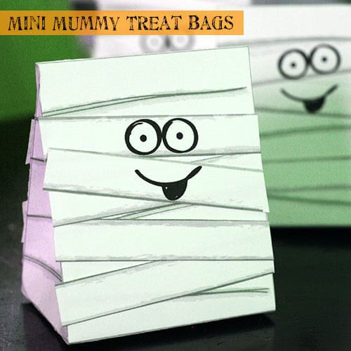 halloween mummy treat bags 100 directions