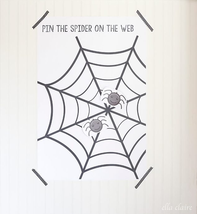 pin spider web halloween party game ella claire