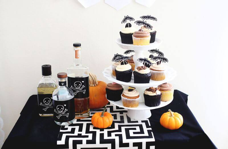 halloween cake toppers bottle labels beautiful mess