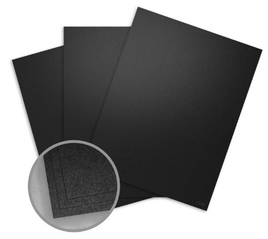 metallic black card stock