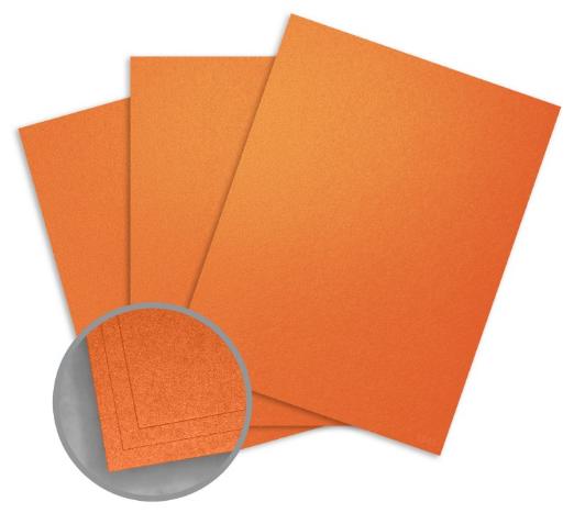 metallic orange card stock