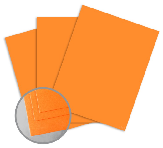 orange card stock
