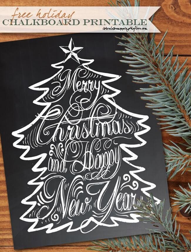 should mopping floor christmas chalkboard printable