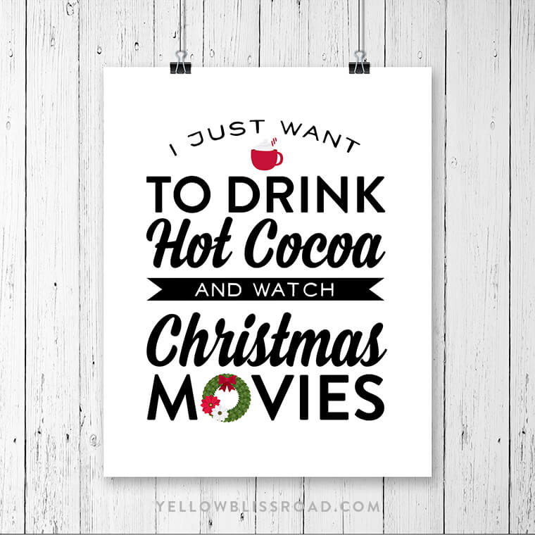 yellow bliss road hot cocoa christmas movies printable