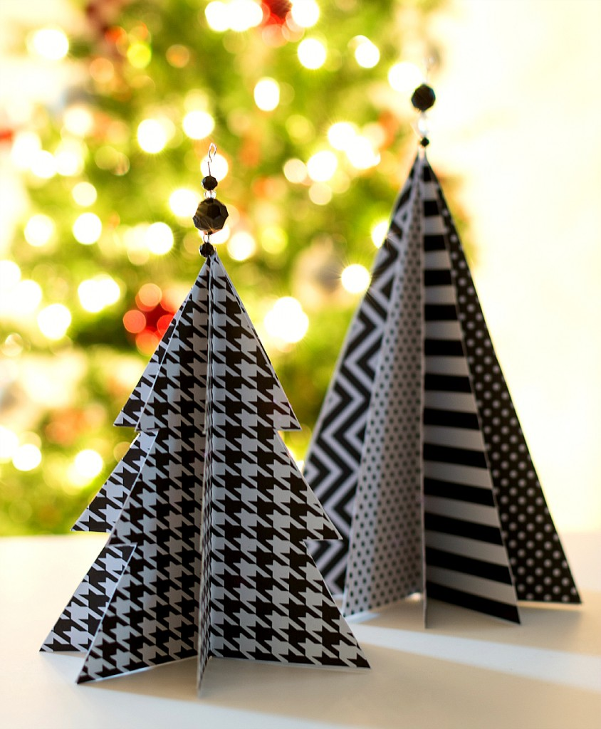 all started paint paper christmas trees
