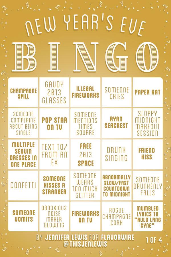 flavorwire new years eve bingo