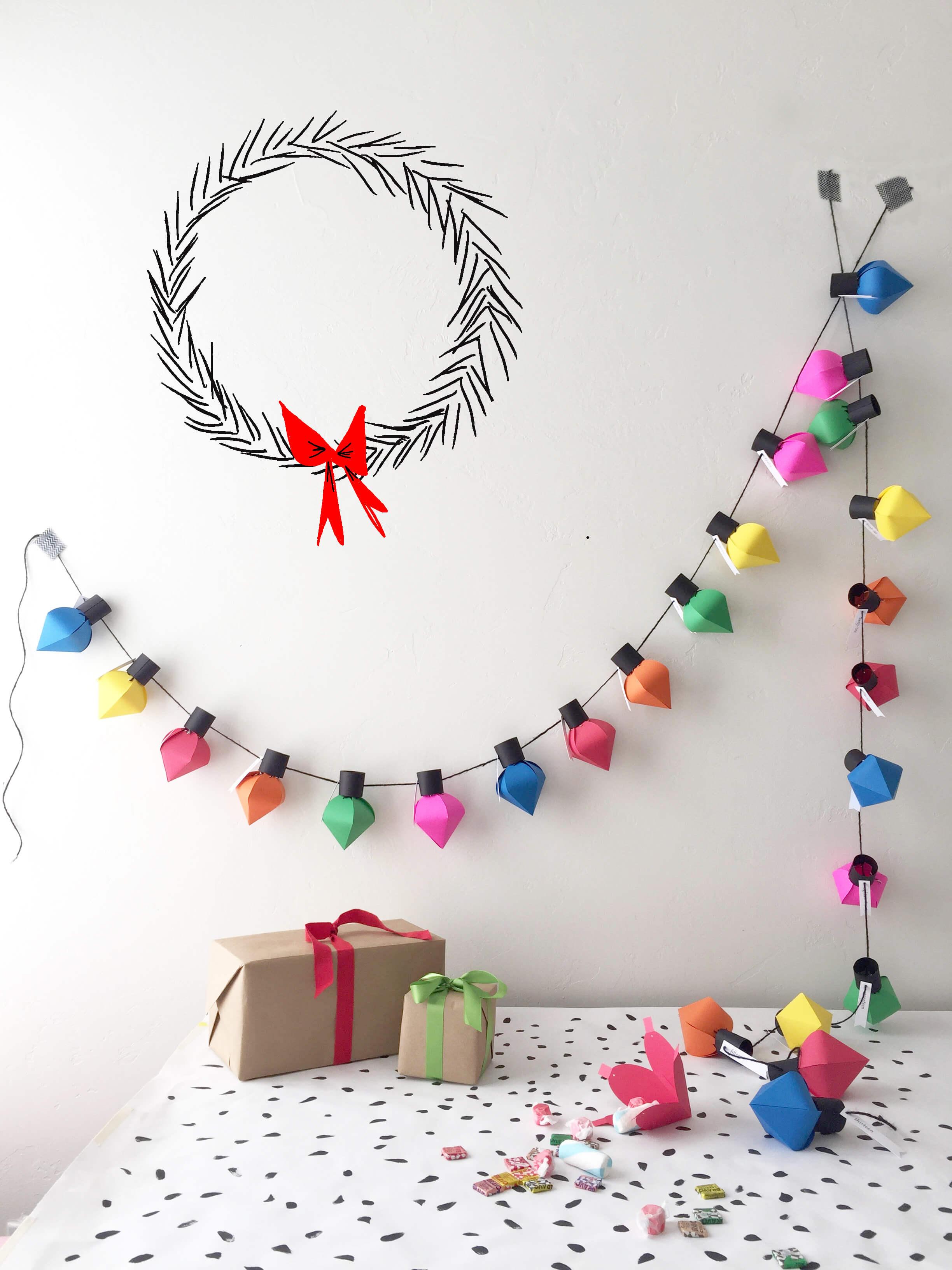 house lars built paper light advent calendar