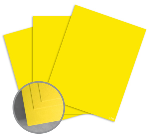 colormates bright yellow card stock