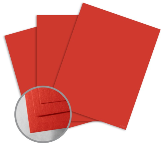 colormates scarlet red card stock
