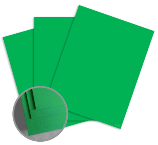 colormates spring green card stock