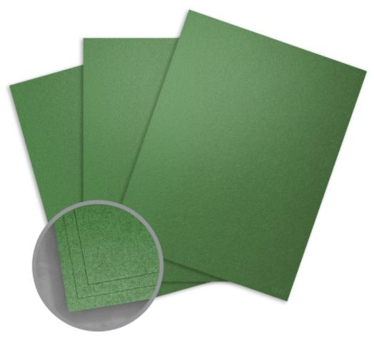 curious metallics botanic green card stock