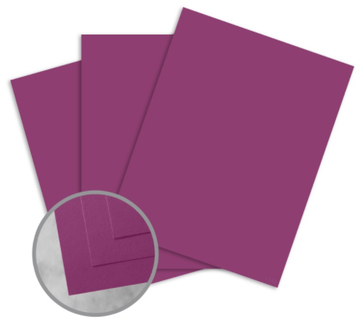 curious skin purple card stock