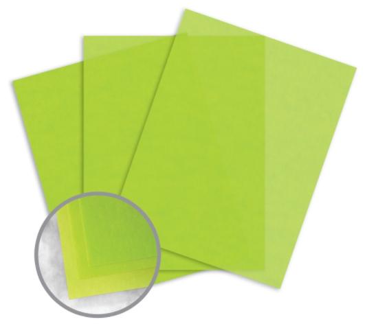glama natural kiwi translucent paper