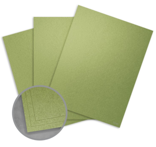 stardream fairway metallic green card stock