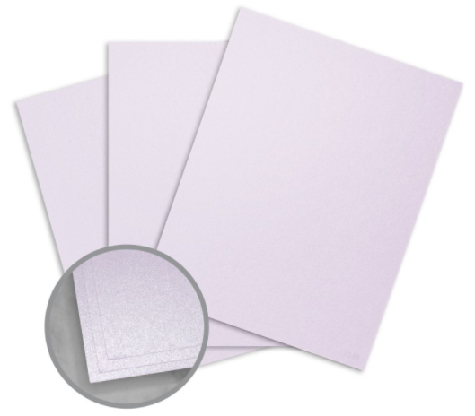 Stardream Kunzite Card Stock - 8 1/2 x 11 in 105 lb Cover Metallic C/2S 100 per Package