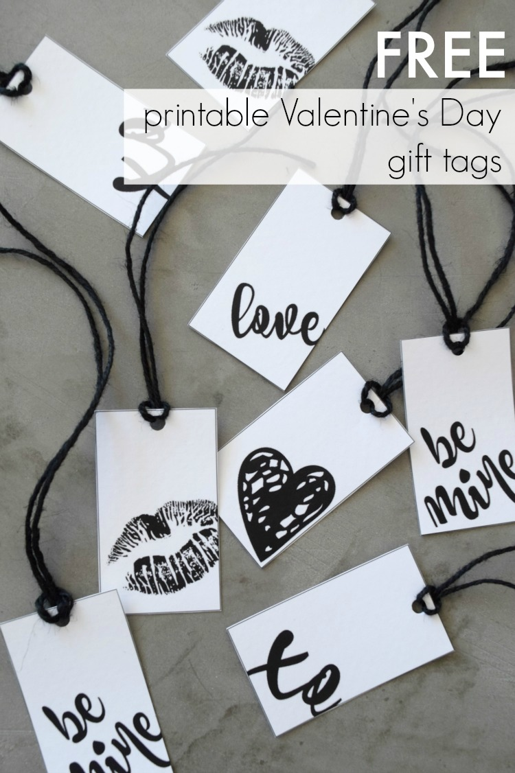 printable valentines card gift tags style curator