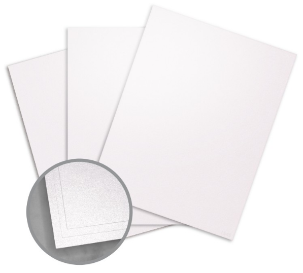 ASPIRE Petallics Snow Willow Card Stock - 8 1/2 x 11 in 105 lb Cover Metallic C/2S 200 per Package