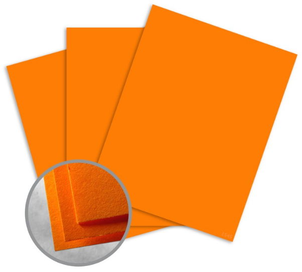 Astrobrights Cosmic Orange Card Stock - 8 1/2 x 11 in 65 lb Cover Smooth 250 per Package