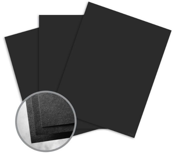 Astrobrights Eclipse Black Card Stock - 8 1/2 x 11 in 80 lb Cover Smooth 30% Recycled 250 per Package