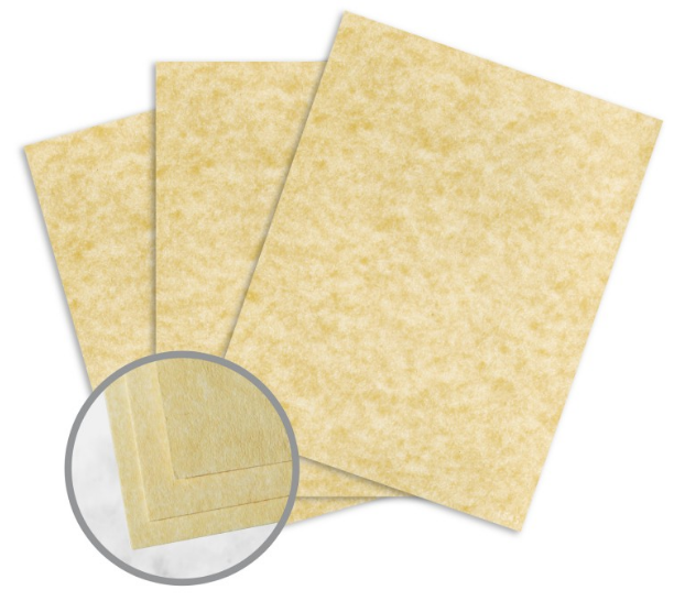 Astroparche Ancient Gold Card Stock - 8 1/2 x 11 in 65 lb Cover Vellum 30% Recycled 250 per Package