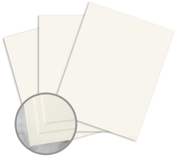CLASSIC Laid Classic Natural White Card Stock - 18 x 12 in 100 lb Cover DT Laid Digital 125 per Package