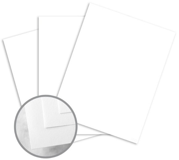 CLASSIC CREST Solar White Card Stock - 8 1/2 x 11 in 110 lb Cover Smooth 250 per Package