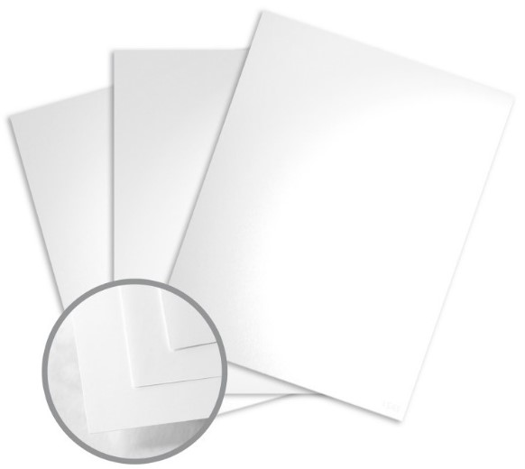 Color Copy Gloss Pure White Card Stock - 8 1/2 x 11 in 100 lb Cover Glossy C/2S 250 per Package